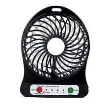 Μίνι Φορητός Επαναφορτιζόμενος Ανεμιστήρας USB Μαύρου Χρώματος-Portable Fan Mini Fan