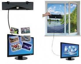 Εσωτερική/εξωτερική ψηφιακή HD TV κεραία Full HD Clear Vision TR-8281 υψηλής απολάβής επίγεια τηλεόραση