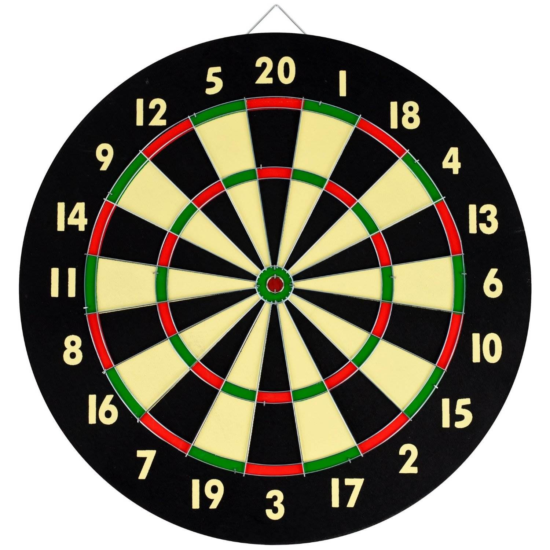 """Στόχος με 6 βελάκια DART BOARD XXL - μεγάλο μέγεθος διπλής όψης 15"""""""