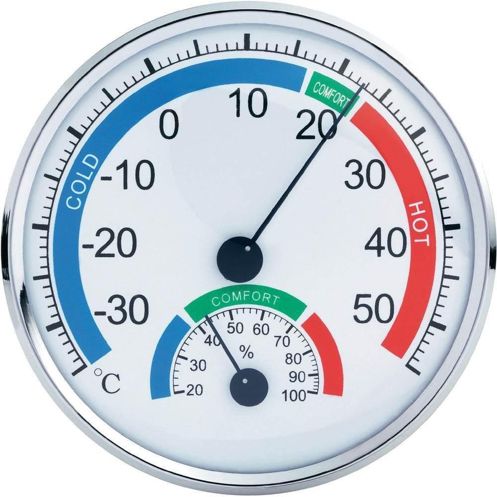 Μεγάλο υγρόμετρο & θερμόμετρο ακριβείας Anymeters TH-101C