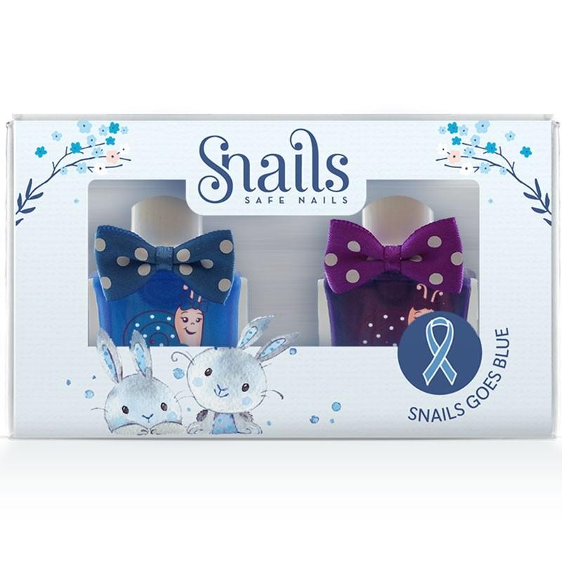 Snails Goes Blue  Rabbit Παιδικά Μανό