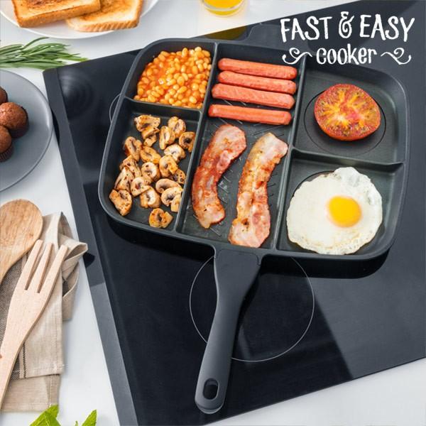 Αντικολλητικό Τηγάνι 5 σε 1 Fast & Easy Cooker