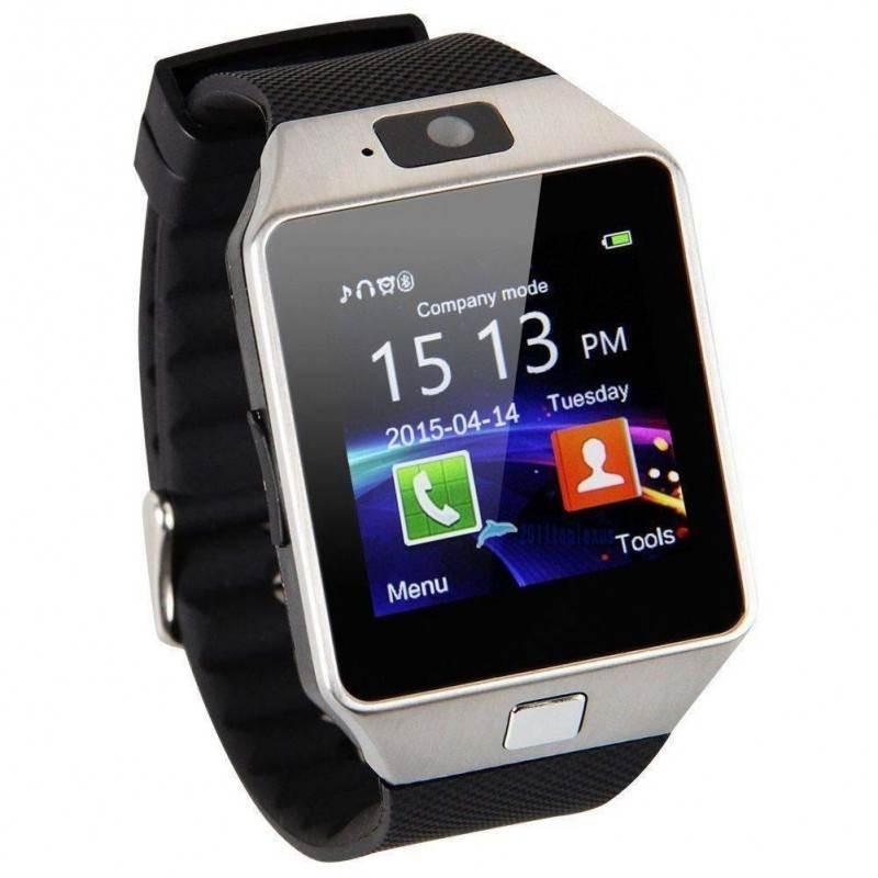 Έξυπνο ρολόι Smart Watch DZ09 με Bluetooth, οθόνη & κάμερα (υποδοχή κάρτας Sim) Ασημένιου Χρώματος