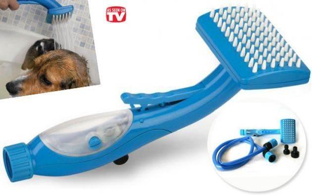 Βούρτσα καθαρισμού με ντουζ κατάλληλο για μασάζ και πλύσιμο σκύλων - Pet Brush Bathe and Groom TV