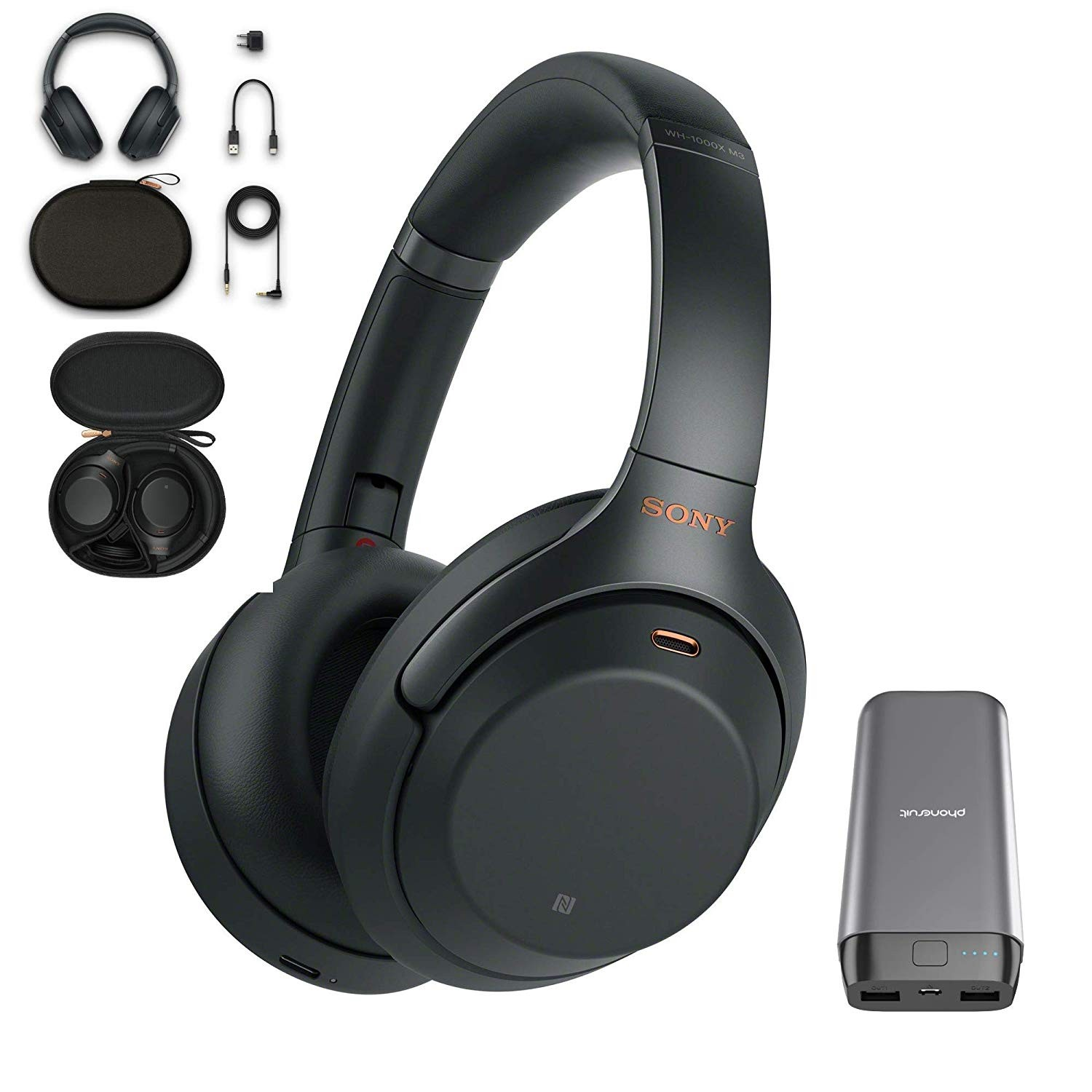 Sony WH1000XM3 Wireless Noise-Cancelling Headphones Black (WH1000XM3B.CE7)