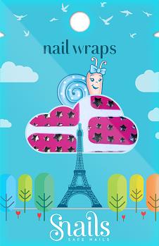 Snails Nail Wraps Pink Stars Παιδικά Aυτοκόλλητα