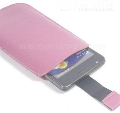 Προστατευτική Δερμάτινη Θήκη Smart Case XL Συμβατή Με Samsung Galaxy S3 και Πολλά Κινητά Ροζ