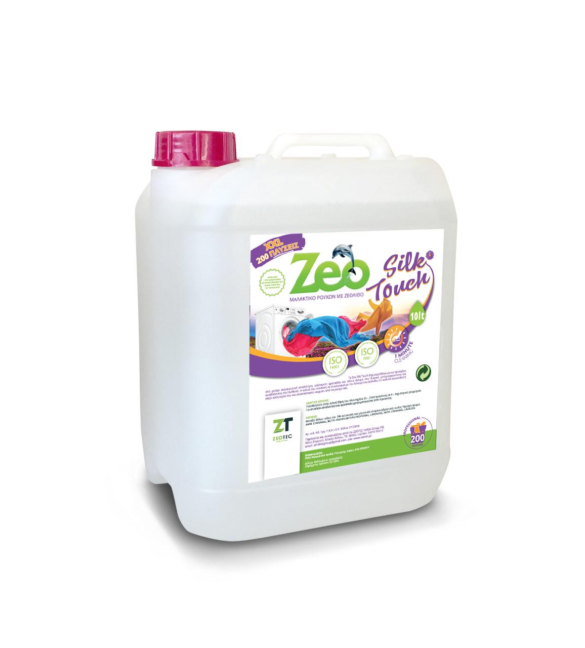 Zeo Silk Touch - Μαλακτικό πλυντηρίου ρούχων με άρωμα λουλουδιών και νότες Ανατολής 10lt