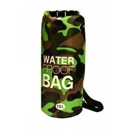 Αδιάβροχος αεροστεγής σάκος ΟΕΜ 10L Waterproof Roll-Up Dry Bag με λουρί ώμου που επιπλέει στο νερό - Πράσινο