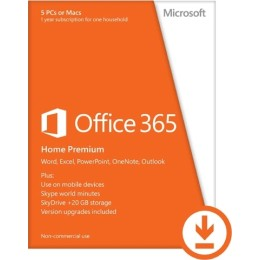 Microsoft Office 365 Home Premium All Languages Licence 1 Year Online (6GQ-00092)