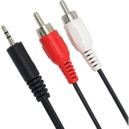 Powertech Audio Cable 3.5mm male - 2x RCA male 3m (CAB-R008) καλώδιο 2x RCA Male σε Jack 3,5mm Male, 3m