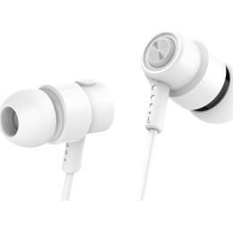 CELEBRAT Earphones V1 CLB-V1-WH με μικρόφωνο 10mm 3.5mm 1.2m λευκό