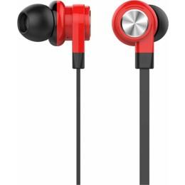 CELEBRAT earphones με μικρόφωνο D9, 10mm, 1.2m, κόκκινα