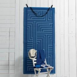 Πετσέτα Θαλάσσης Με Ψάθα Maze 75x150 Beach Collection Palamaiki