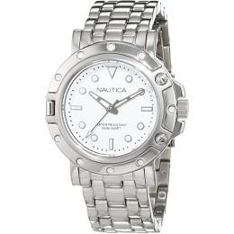 Nautica Women's Quartz Watch with Silver NAD15 524L