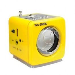 Φορητό Ηχείο Με Δυνατότητα Αναπαραγωγής Mp3 Μέσω USB Ή SD Κάρτας Και Ενσωματωμένο FM δέκτη - Κίτρινο
