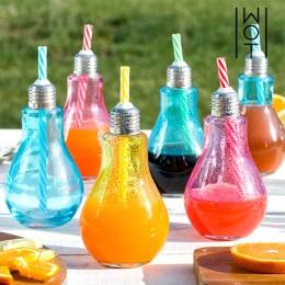Πολύχρωμα Ποτήρια Λάμπα με Καλαμάκια Wagon Trend 250 ml