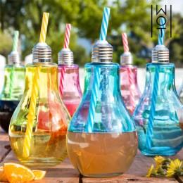 Πολύχρωμα Ποτήρια Λάμπα με Καλαμάκια Wagon Trend 400 ml