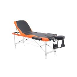 Φορητό Αναδιπλούμενο Επαγγελματικό Κρεβάτι - Κλίνη Μασάζ Φυσικοθεραπείας 3 Ζωνών Χρώματος Πορτοκαλί HOMCOM 700-039