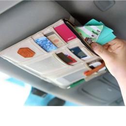 Θήκη αποθήκευσης με τσεπάκια στο σκίαστρο του αυτοκινήτου - Μπεζ- OEM 51709