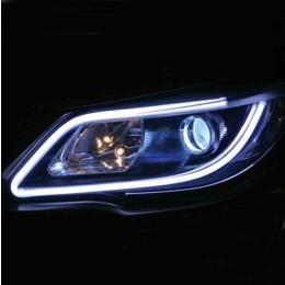 Εύκαμπτος σωλήνας LED 60cm για φανάρι αυτοκινήτου 2 τεμάχια - Λευκό