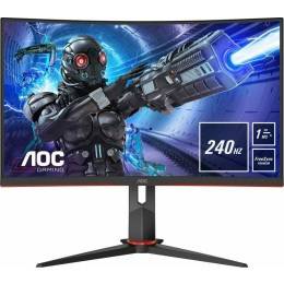 """AOC C32G2ZE/BK Curved Gaming Monitor 31.5"""" FHD 240Hz"""
