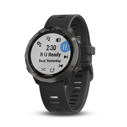 Garmin Forerunner 645 Music GPS Sport Watch - Black with Slate Hardware (010-01863-32)