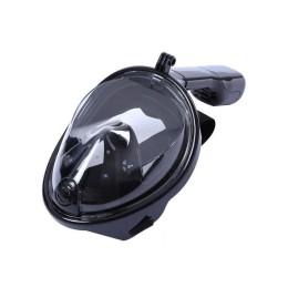 Μάσκα Θαλάσσης Full Face Μαύρη με Αναπνευστήρα και Βάση για Action Camera Free Breath M2068G
