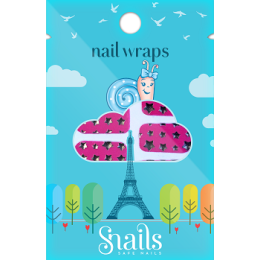 Snails Nail Wraps Pink Stars Παιδικά Aυτοκόλλητα