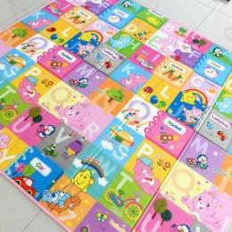 Παιδικό ισοθερμικό ταπέτο διπλής όψης - Pink Letters